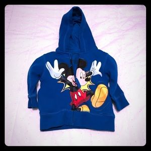 Disney Mickey Zipper Sweatshirt 2T